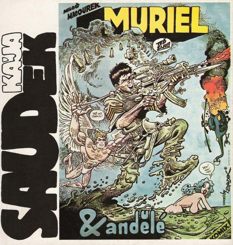 'Muriel & andělé', BD de l'année 1968, mais publiée en 1991 aux éditions Comet