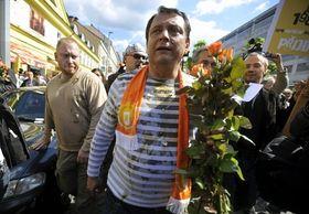 El líder socialdemócrata, Jiří Paroubek, en la campaña electoral. Foto: ČTK