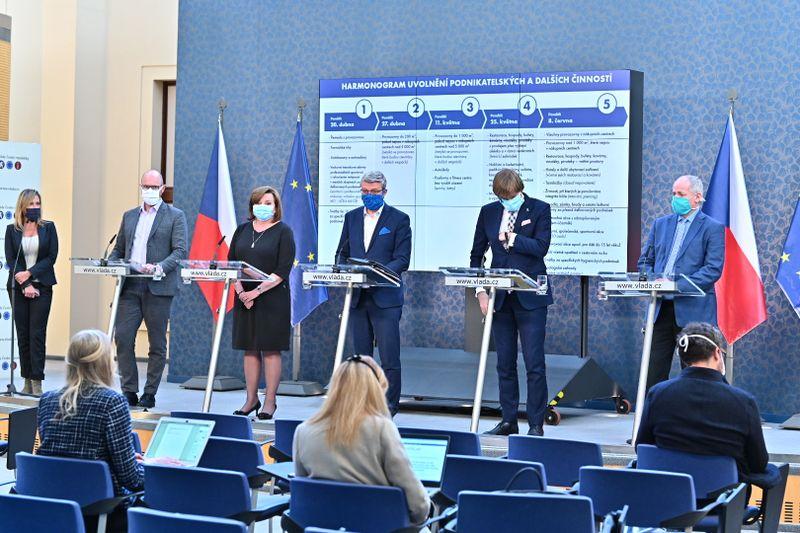 Le gouvernement a présenté mardi un plan visant à lever progressivement les mesures de confinement, photo: Site officiel du Gouvernement tchèque