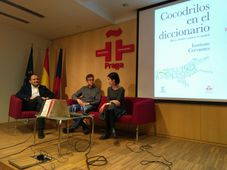 David Castillo, Álvaro Recio y Carmela Tomé, foto: Instituto Cervantes