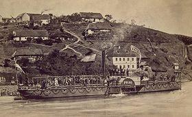 Parník Praha – Prag zahájil 26.srpna 1865 pravidelnou plavbu zPrahy do Štěchovic