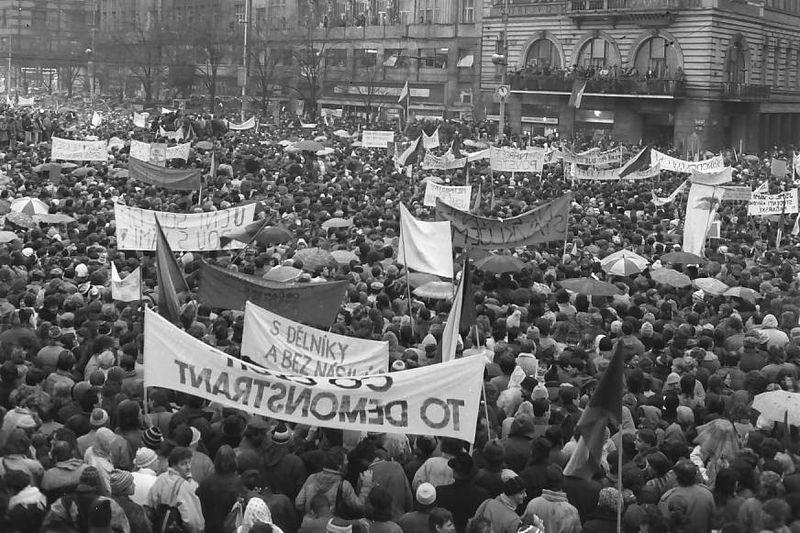 Novembre 1989, photo: Dušan Bouška, Archives de ČRo