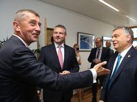 Andrej Babiš (à gauche) avec les Premiers ministres des pays de Visegrad, photo: Site officiel du Gouvernement de la République tchèque