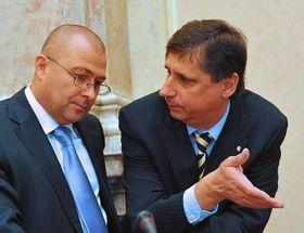 Martin Barták et Jan Fischer, photo: CTK