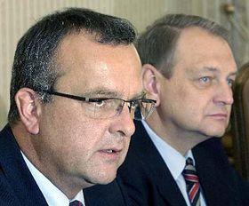 De izquierda: Miroslav Kalousek y Jan Kasal (Foto: CTK)