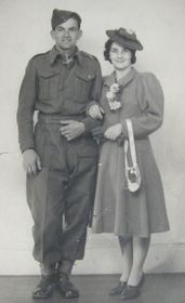 Lillian and her husband Josef on their wedding day