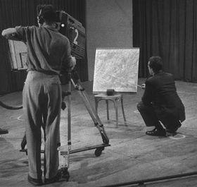 Operador de la Televisión Checa en 1955, foto: CTK