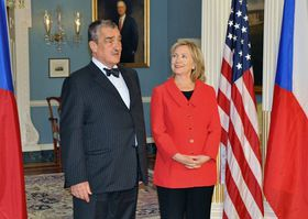 Karel Schwarzenberg, Hillary Clinton, photo: CTK