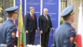 Štefan Füle, Miloš Zeman, photo: CTK
