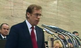 Václav Havel in 1992, photo: Czech Television