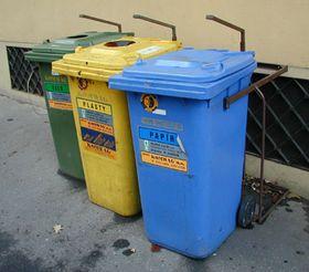 Contenedores para la basura separada
