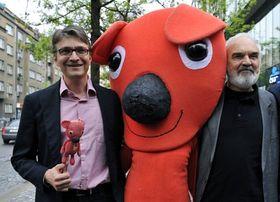Jan Svěrák, Kuky und Zdeněk Svěrák (Foto: ČTK)