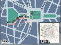 Karte: Prager Haus in Brüssel (Quelle: CTK)