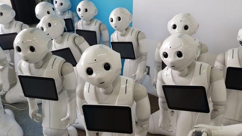 El robot Pepper, foto: Dalibor Zita, ČRo