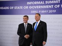 Andrej Babiš, Romanian President Klaus Werner Ioannis, photo: ČTK/AP/Vadim Ghirda