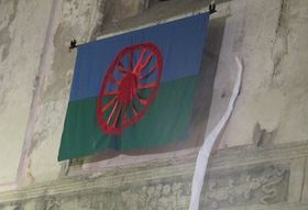 Flagge der Roma (Foto: Kristýna Maková, Archiv des Tschechischen Rundfunks - Radio Prag)