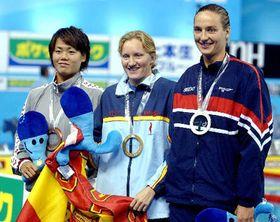 Илона Главачкова (направо) на чемпионате мира по плаванию в Испании (Фото: ЧТК)