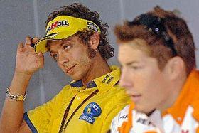 Valentino Rossi aNicky Hayden, foto: ČTK