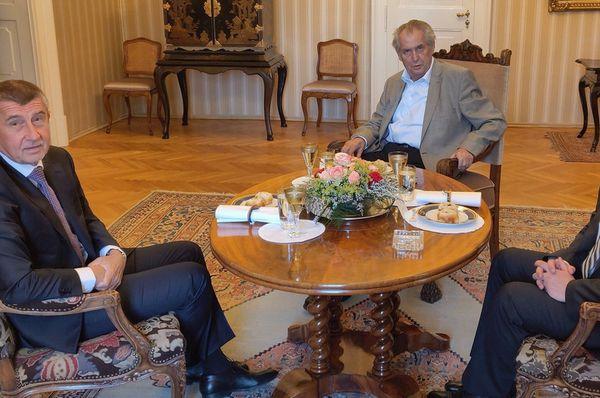 Андрей Бабиш, Милош Земан и Ян Гамачек, фото: Иржи Овчачек