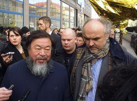 Ai Weiwei, Jiří Fajt, photo: Miroslav Krupička