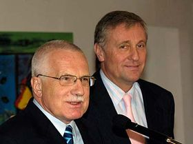 Vaclav Klaus y Mirek Topolanek (Foto: CTK)