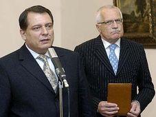 Jiri Paroubek et Vaclav Klaus, photo: CTK