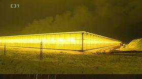 Lichtverschmutzung bei Bogatynia (Foto: Tschechisches Fernsehen)