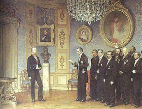 Maximiliano y Delegacion mexicana