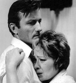 Radoslav Brzobohatý and Jiřina Bohdalová in 'The Ear' ('Ucho')