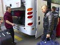 Беженцы, направляющиеся из Чехии в Германию, Фото: ЧТ