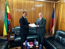 Ethiopian Foreign Minister Afework Kassu Gizaw, Pavel Mikeš, photo: archive of Czech Embassy in Addis Abeba