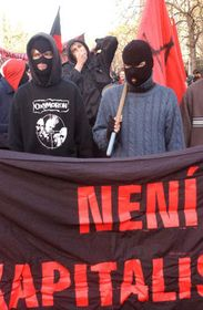 Anarquistas en Praga, foto: CTK