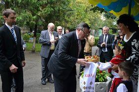 Официальный визит Иржи Бегоунека в Закарпатье, Фото: Архив края Высочина