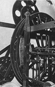 El mecanismo del reloj astronómico