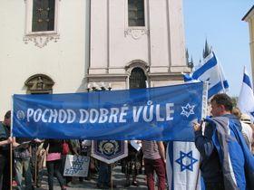 The march against antisemitism in Prague, April 2013, photo: Martina Schneibergová
