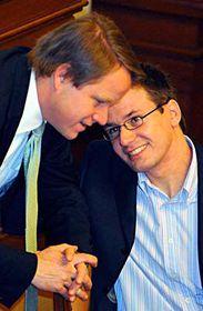 Martin Bursík and Ondřej Liška, photo: CTK
