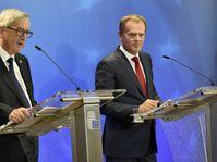 Председателя Европейской комиссии Жан-Клод Юнкер и председатель Европейского совета Дональд Туск (Фото: ЧТК)