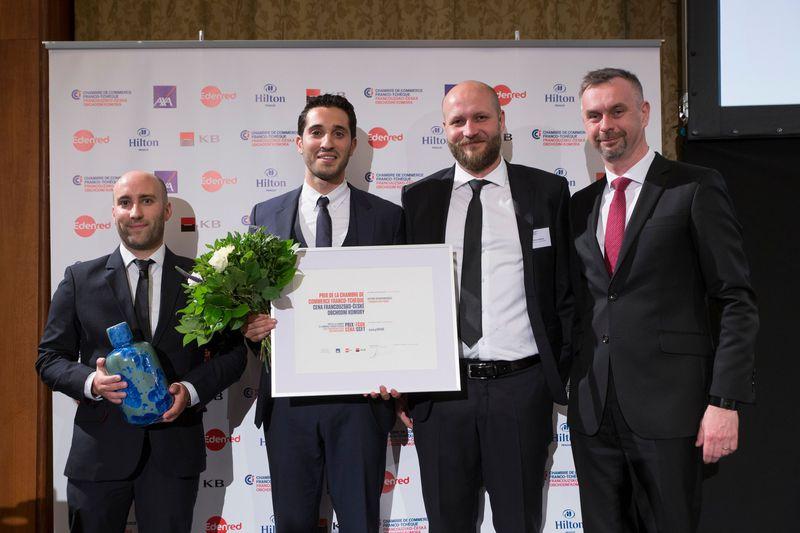 Les prix CCFT pour la société EasyBNB, photo: Chambre de commerce franco-tchèque