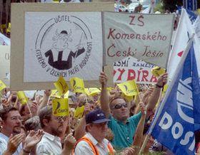Демонстрация профсоюзов (Фото: ЧТК)