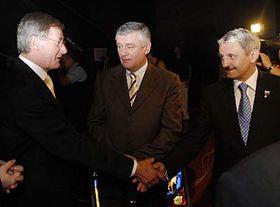 Pavol Hrušovský, Ján Slota aMikuláš Dzurinda, foto: ČTK