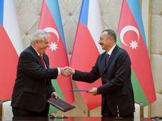 Miloš Zeman, Ilham Aliyev, photo: CTK