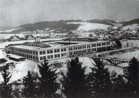 Továrna vTýnci nad Sázavou, foto: archiv JAWA