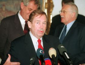 Sitzung des Sicherheitsrats, Havel, Zeman, Klaus, Foto:CTK