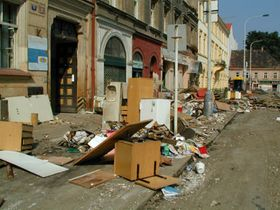 Karlin après les inondations - août 2002
