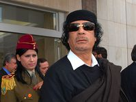 Mouammar Kadhafi, photo: James Gordon, CC BY 2.0 Generic