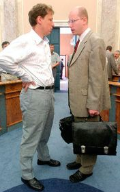 Stanislav Gross (vlevo) sBohuslavem Sobotkou, foto: ČTK