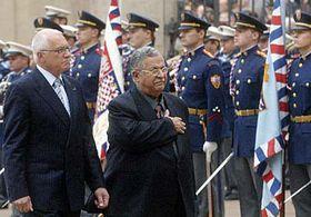 Presidente de Irak, Jalal Talabani (a la derecha) y presidente checo Václav Klaus (Foto: CTK)