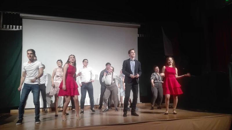 Le spectacle monté par les dix-huit élèves tchèques du lycée Carnot, photo: Alexis Rosenzweig