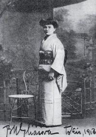 Barbora Markéta Eliášová v Tokiu v roce 1913