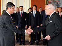Jan Fischer et Václav Klaus, photo: CTK